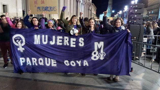 Las mujeres de Parque Goya en el 8M