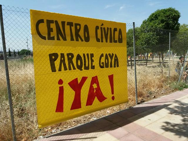 Los vecinos de Parque Goya exigen a la DGA la cesión del solar para la construcción de su centro cívico